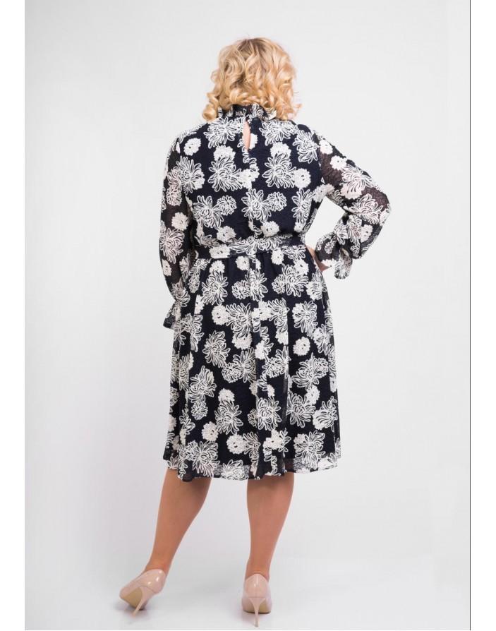 Платье Парина (принт) XL